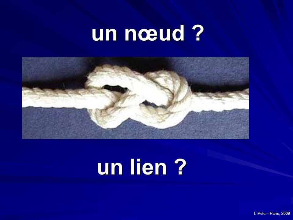 un nœud un lien I. Pelc – Paris, 2009