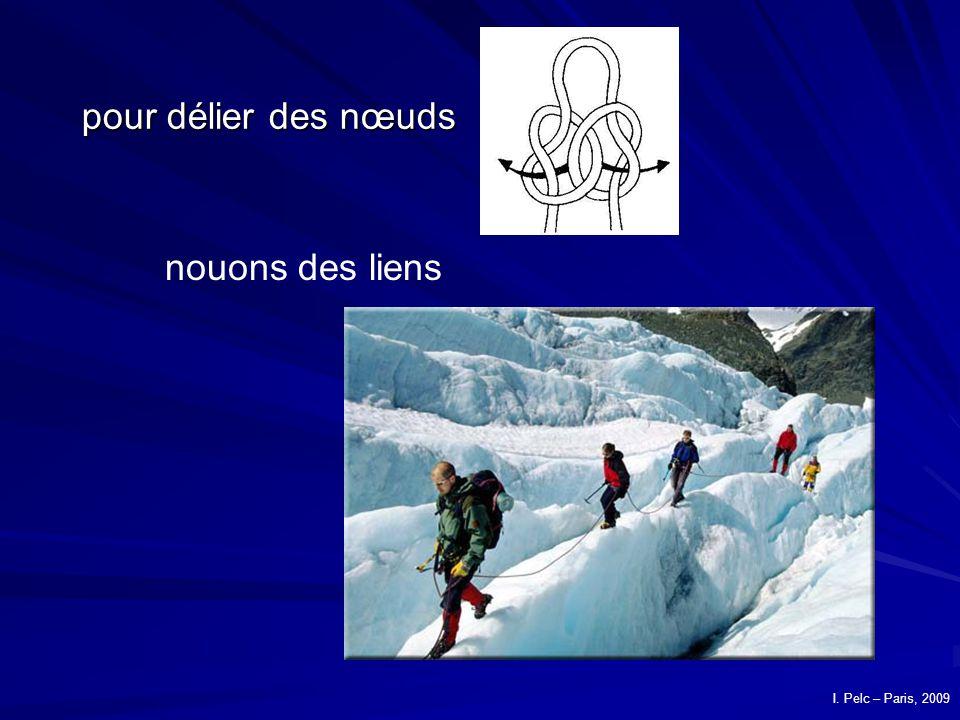 pour délier des nœuds nouons des liens I. Pelc – Paris, 2009