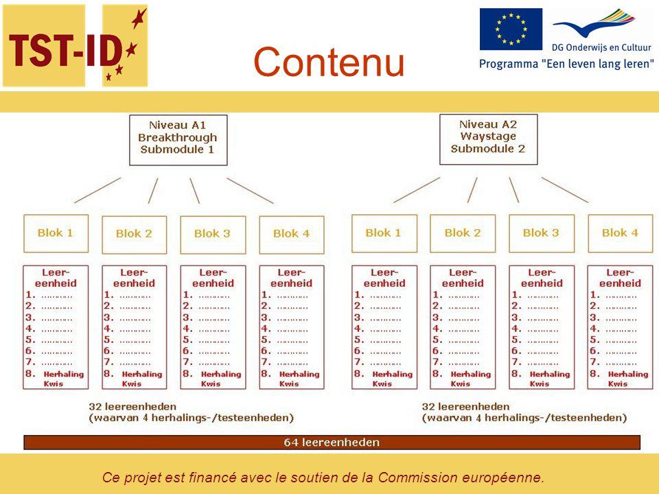Ce projet est financé avec le soutien de la Commission européenne. Contenu