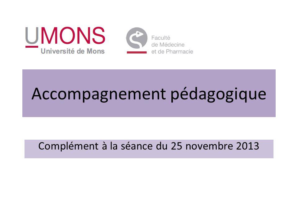 Accompagnement pédagogique Complément à la séance du 25 novembre 2013