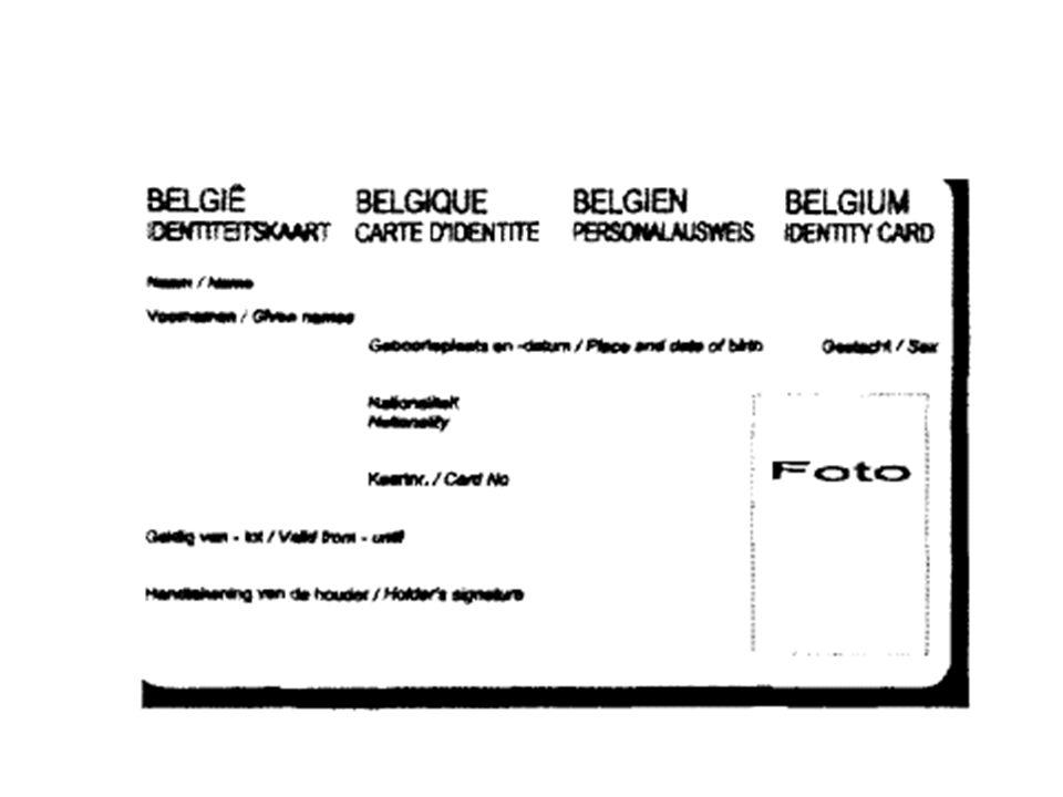 Le projet belge Doter le citoyen dun instrument : –didentification –de voyage –de signature Délivrance à lintervention des autorités communales en tan
