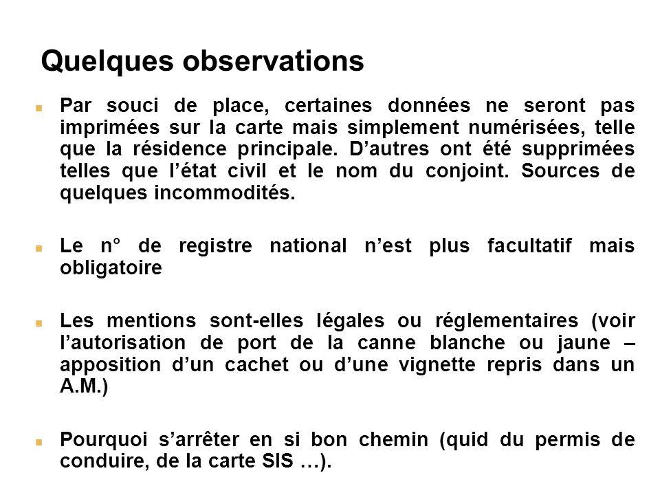Légalité - une objection Article 3 – Directive 13 décembre 1999 7.