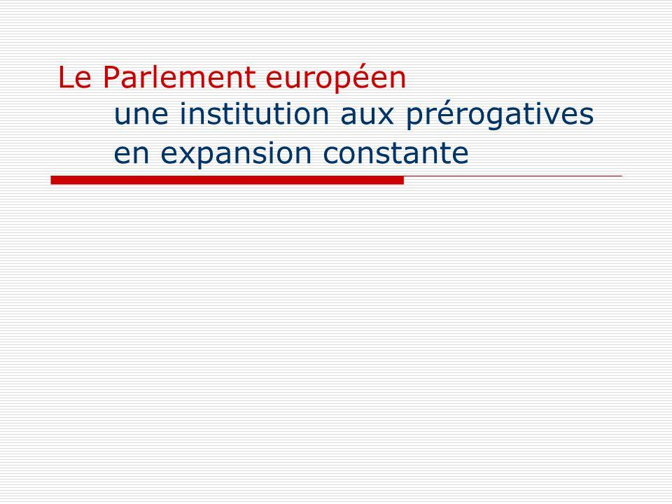 Le Parlement européen une institution aux prérogatives en expansion constante
