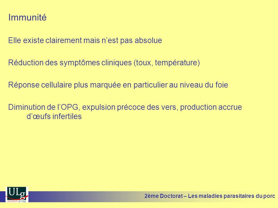Immunité Elle existe clairement mais nest pas absolue Réduction des symptômes cliniques (toux, température) Réponse cellulaire plus marquée en particu
