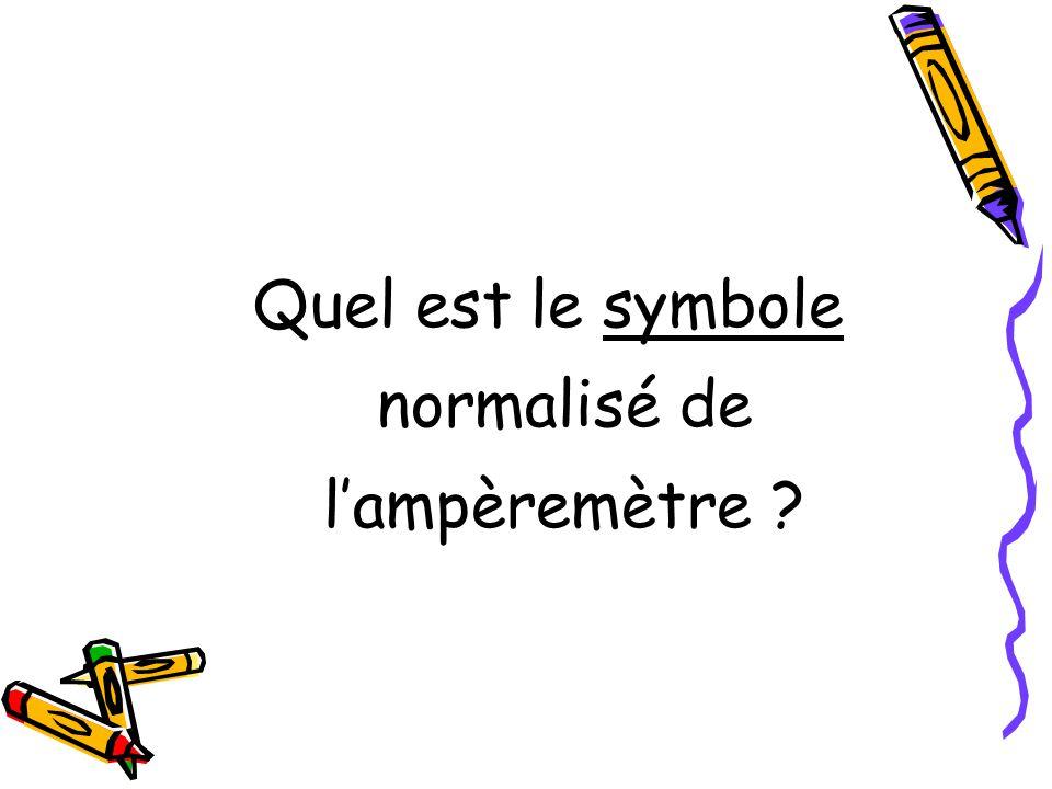 Quel est le symbole normalisé de lampèremètre ?
