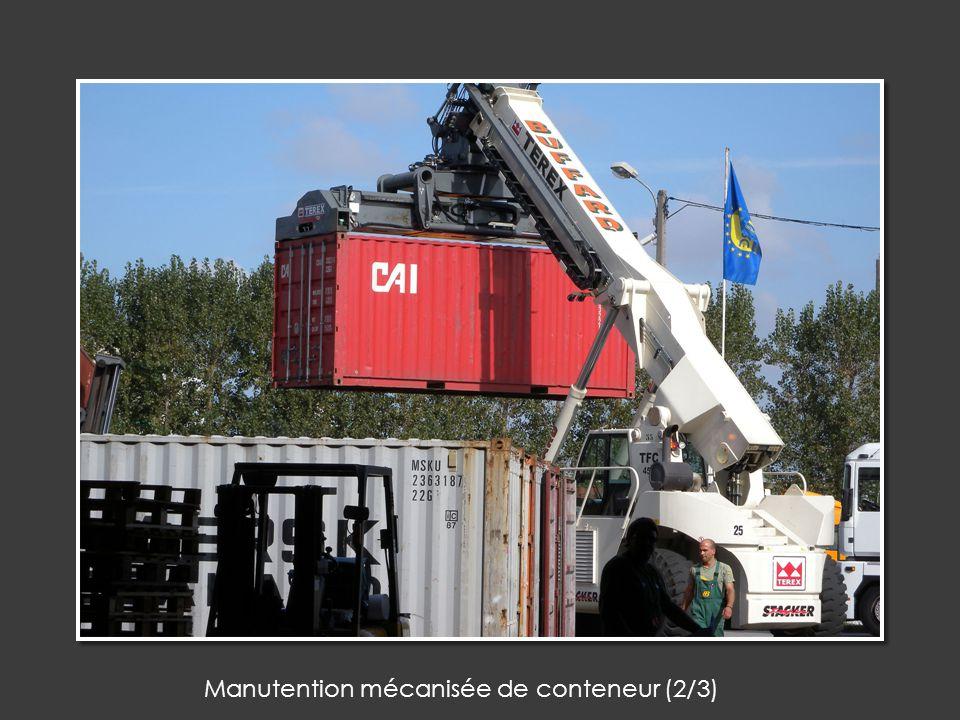 Manutention mécanisée de conteneur (2/3)