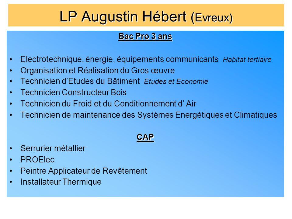 LP Augustin Hébert ( Evreux) Bac Pro 3 ans Electrotechnique, énergie, équipements communicants Habitat tertiaire Organisation et Réalisation du Gros œ