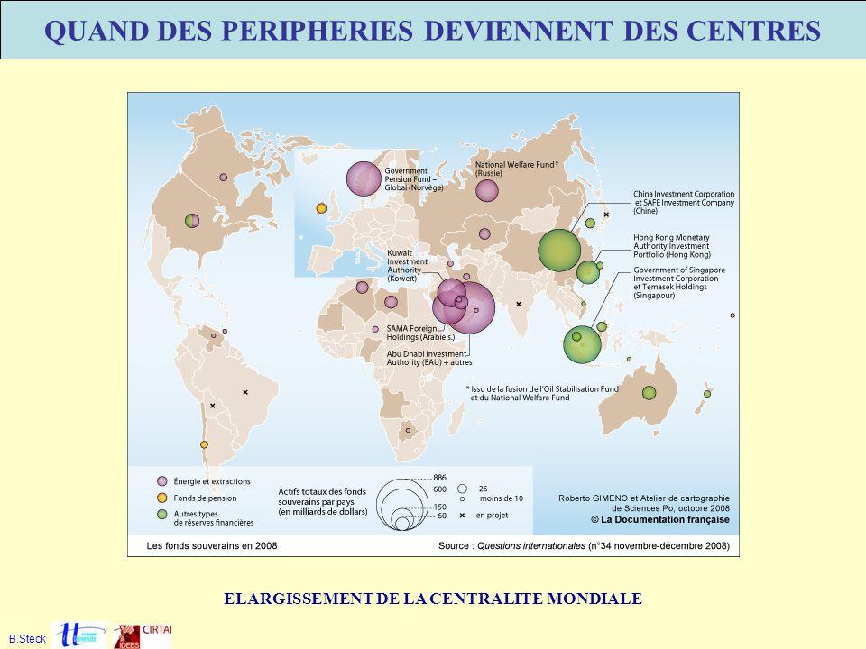 QUAND DES PERIPHERIES DEVIENNENT DES CENTRES ELARGISSEMENT DE LA CENTRALITE MONDIALE B.Steck