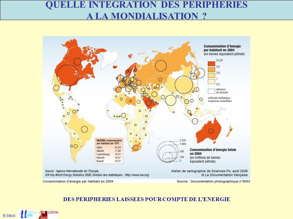 DES PERIPHERIES LAISSEES POUR COMPTE DE LENERGIE B.Steck QUELLE INTEGRATION DES PERIPHERIES A LA MONDIALISATION ?