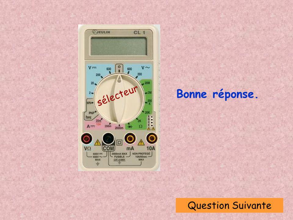Question Suivante sélecteur Bonne réponse.