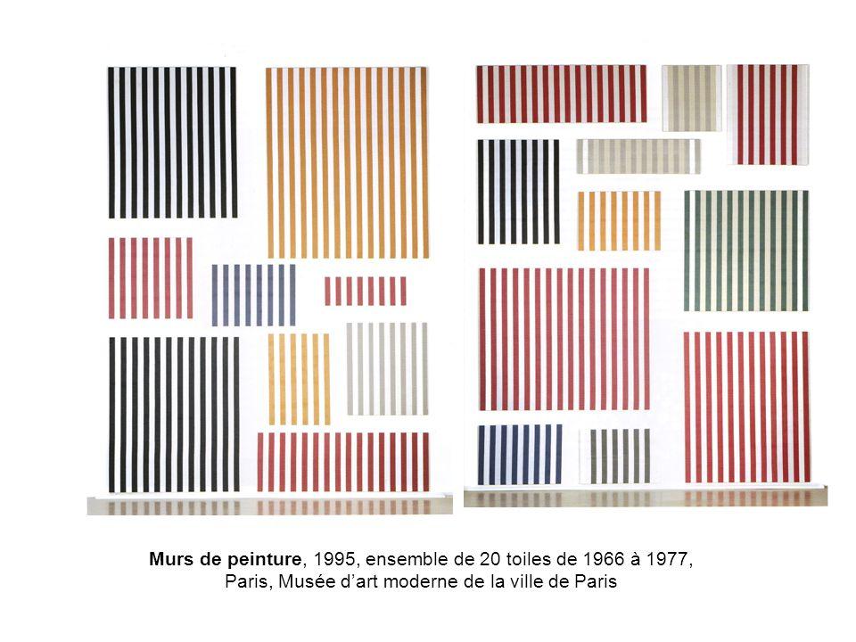 Murs de peinture, 1995, ensemble de 20 toiles de 1966 à 1977, Paris, Musée dart moderne de la ville de Paris