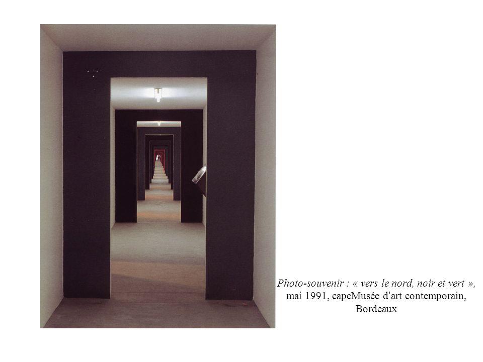 Photo-souvenir : « vers le nord, noir et vert », mai 1991, capcMusée d art contemporain, Bordeaux