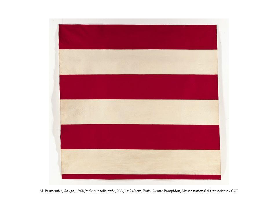 M. Parmentier, Rouge, 1968, huile sur toile cirée, 233,5 x 240 cm, Paris, Centre Pompidou, Musée national d art moderne - CCI.