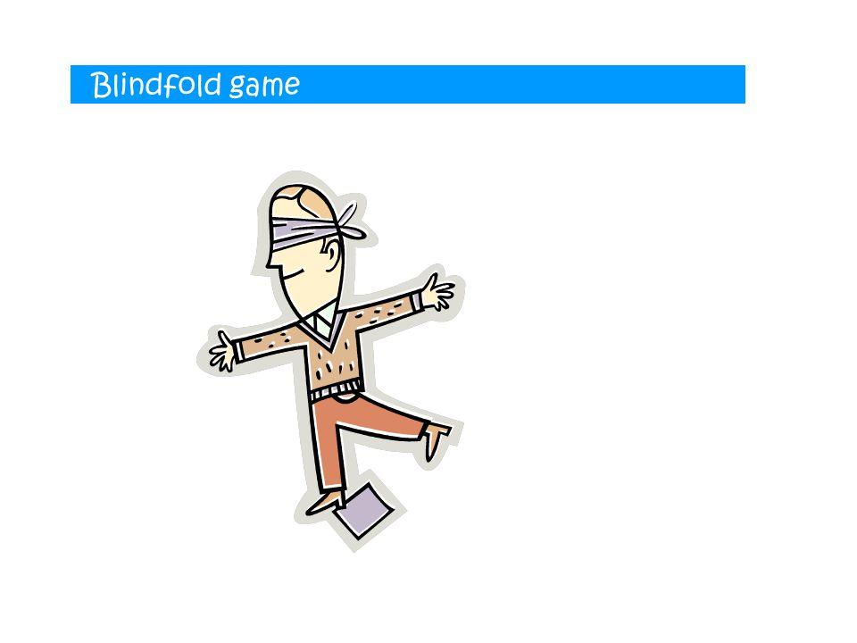 Blindfold game