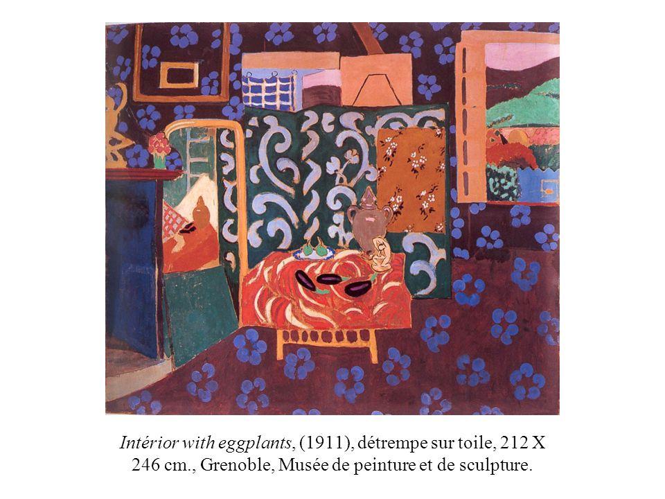 Intérior with eggplants, (1911), détrempe sur toile, 212 X 246 cm., Grenoble, Musée de peinture et de sculpture.