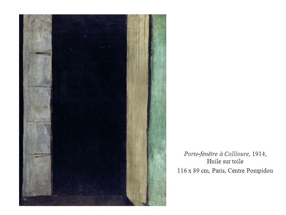 Porte-fenêtre à Collioure, 1914, Huile sur toile 116 x 89 cm, Paris, Centre Pompidou