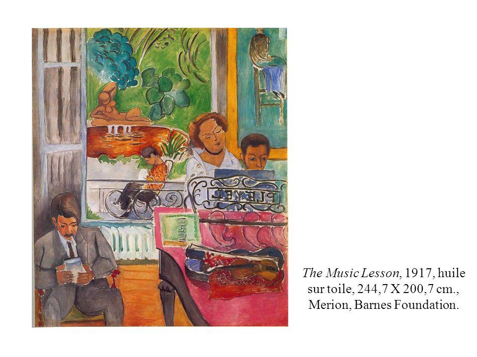 The Music Lesson, 1917, huile sur toile, 244,7 X 200,7 cm., Merion, Barnes Foundation.
