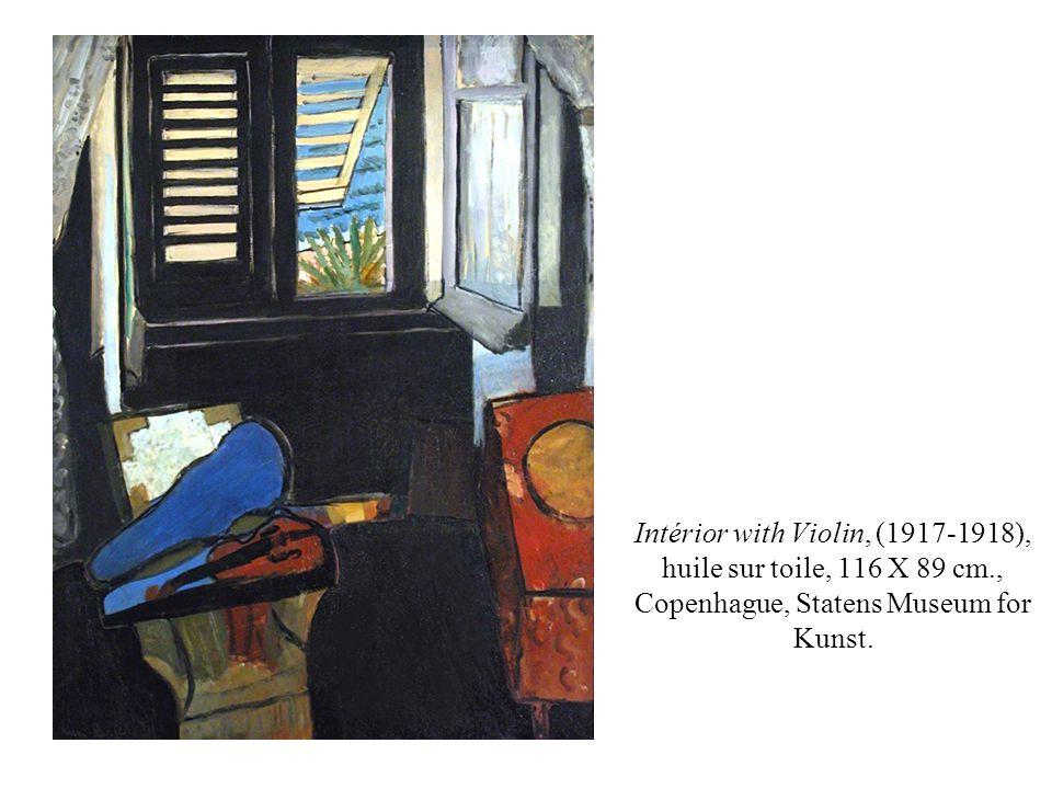 Intérior with Violin, (1917-1918), huile sur toile, 116 X 89 cm., Copenhague, Statens Museum for Kunst.