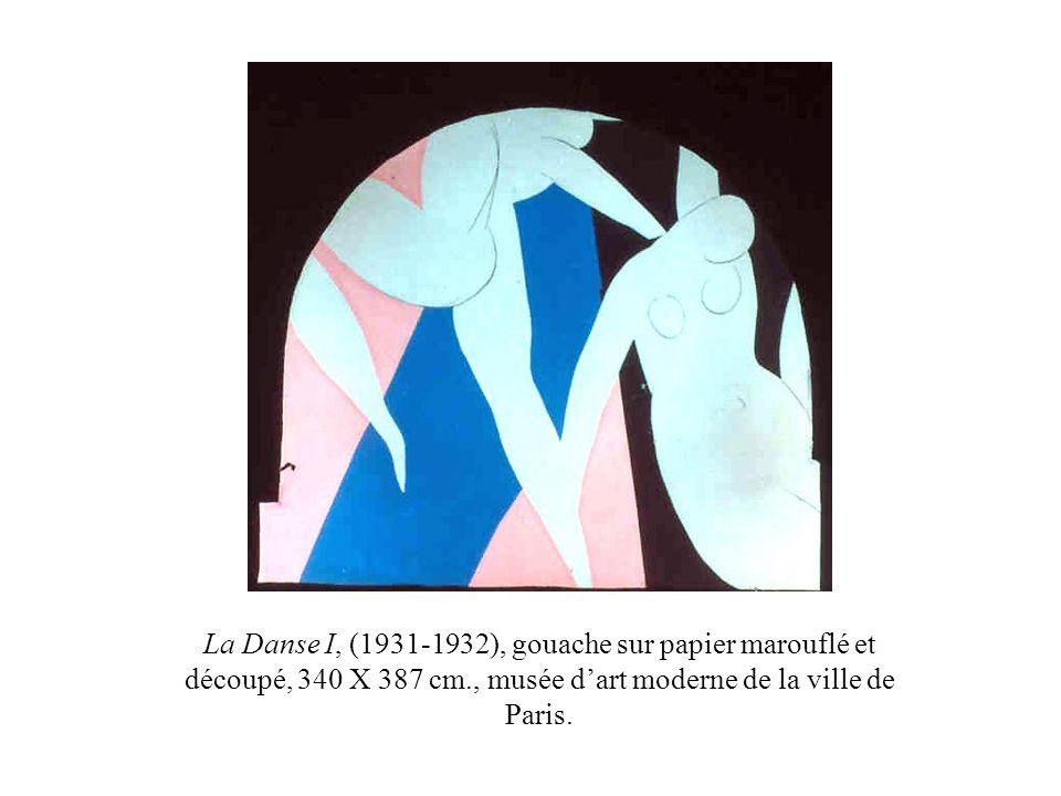 La Danse I, (1931-1932), gouache sur papier marouflé et découpé, 340 X 387 cm., musée dart moderne de la ville de Paris.