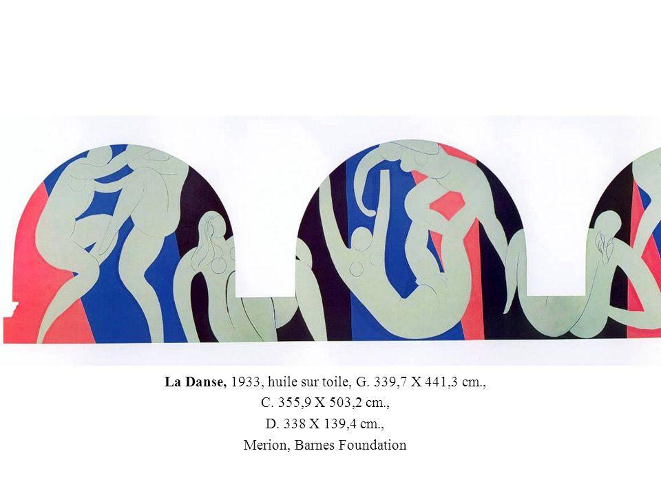 La Danse, 1933, huile sur toile, G. 339,7 X 441,3 cm., C. 355,9 X 503,2 cm., D. 338 X 139,4 cm., Merion, Barnes Foundation