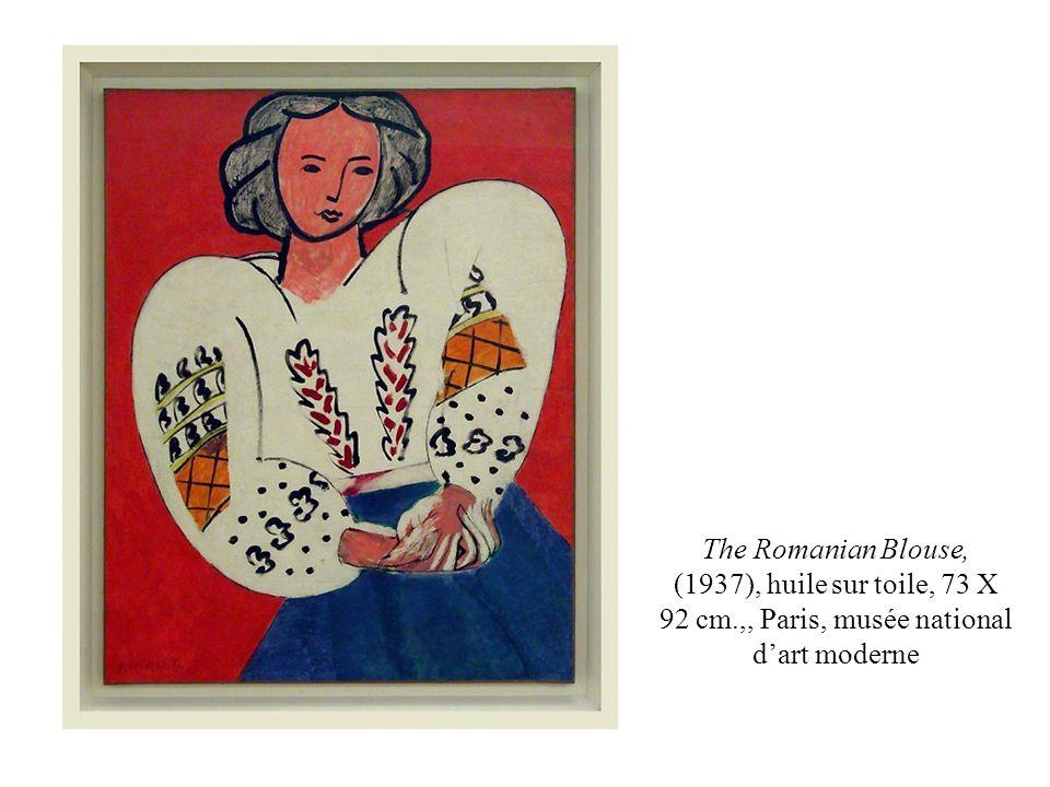 The Romanian Blouse, (1937), huile sur toile, 73 X 92 cm.,, Paris, musée national dart moderne