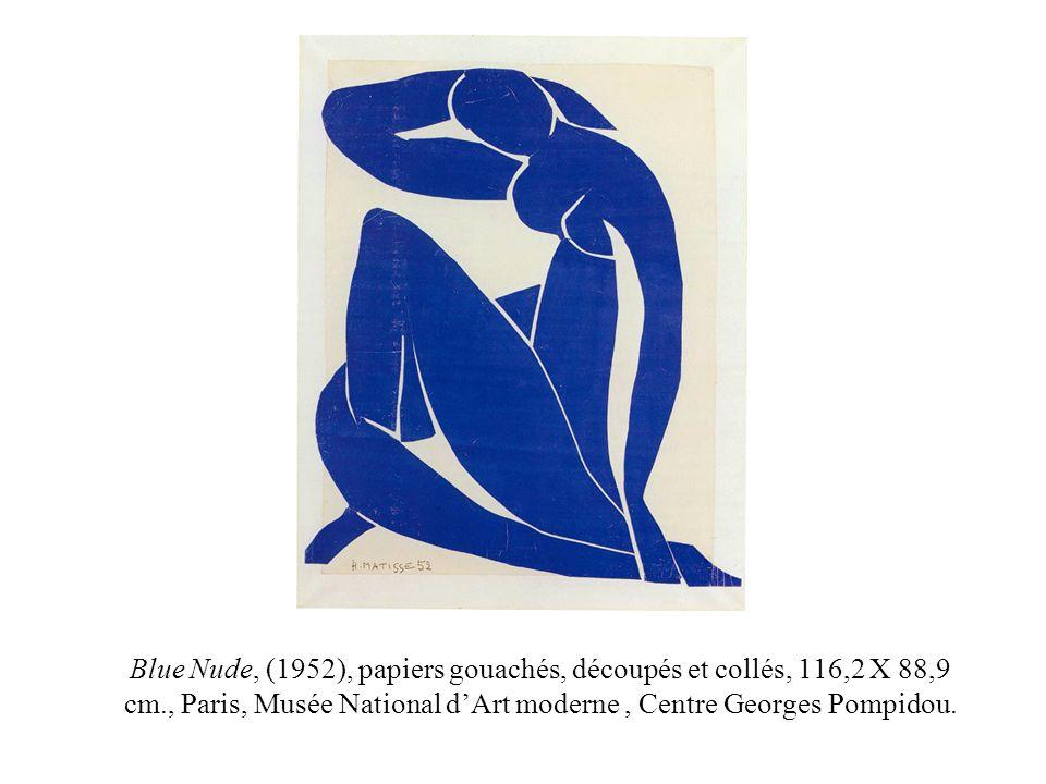 Blue Nude, (1952), papiers gouachés, découpés et collés, 116,2 X 88,9 cm., Paris, Musée National dArt moderne, Centre Georges Pompidou.
