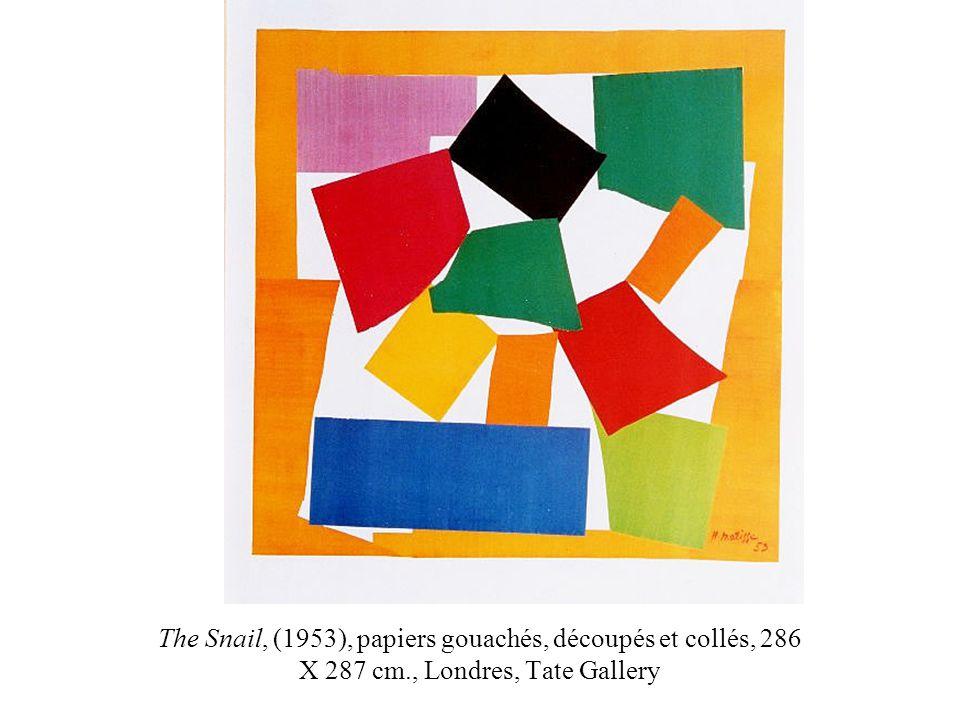 The Snail, (1953), papiers gouachés, découpés et collés, 286 X 287 cm., Londres, Tate Gallery