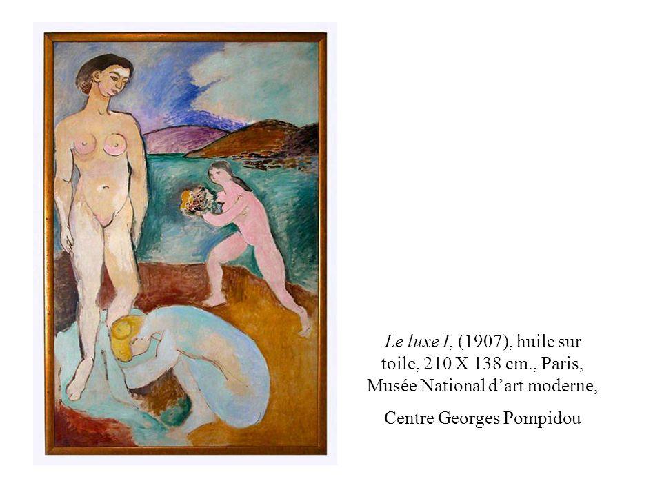 Le luxe I, (1907), huile sur toile, 210 X 138 cm., Paris, Musée National dart moderne, Centre Georges Pompidou