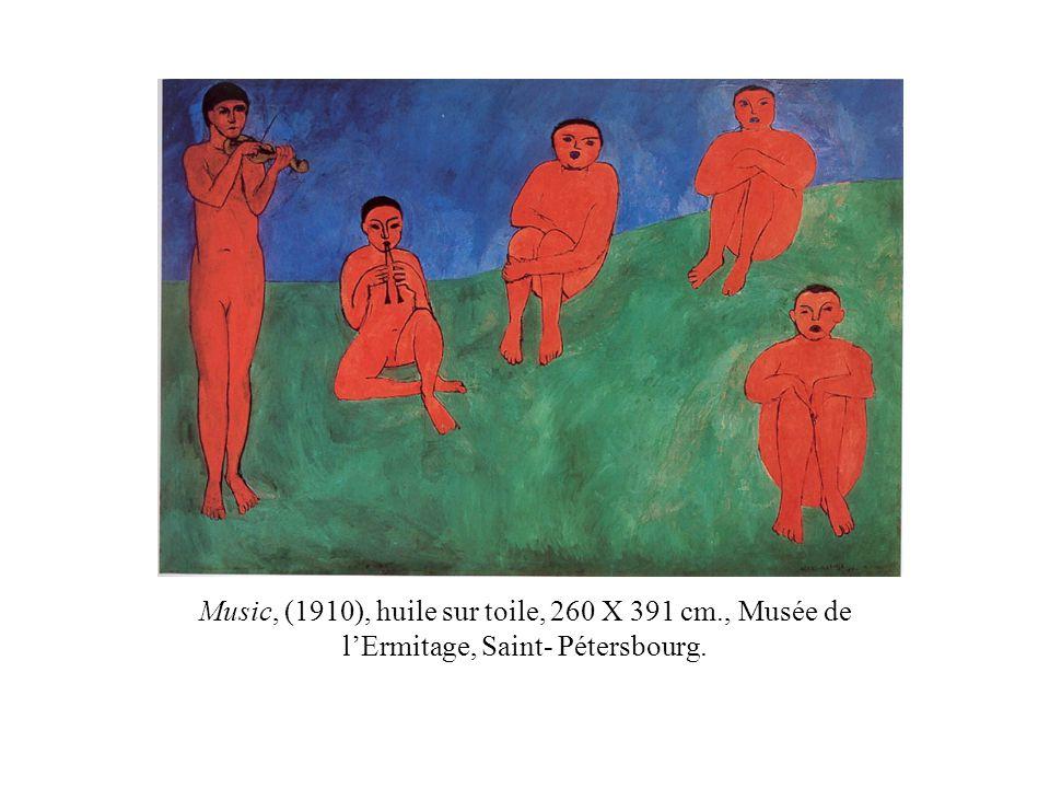 Music, (1910), huile sur toile, 260 X 391 cm., Musée de lErmitage, Saint- Pétersbourg.