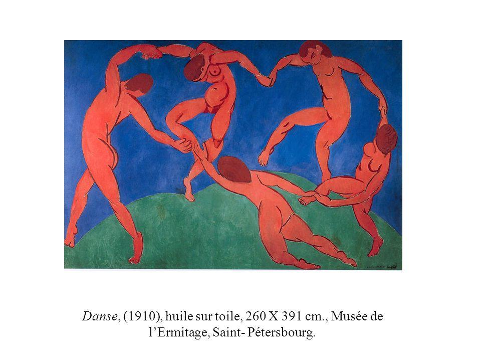 Danse, (1910), huile sur toile, 260 X 391 cm., Musée de lErmitage, Saint- Pétersbourg.