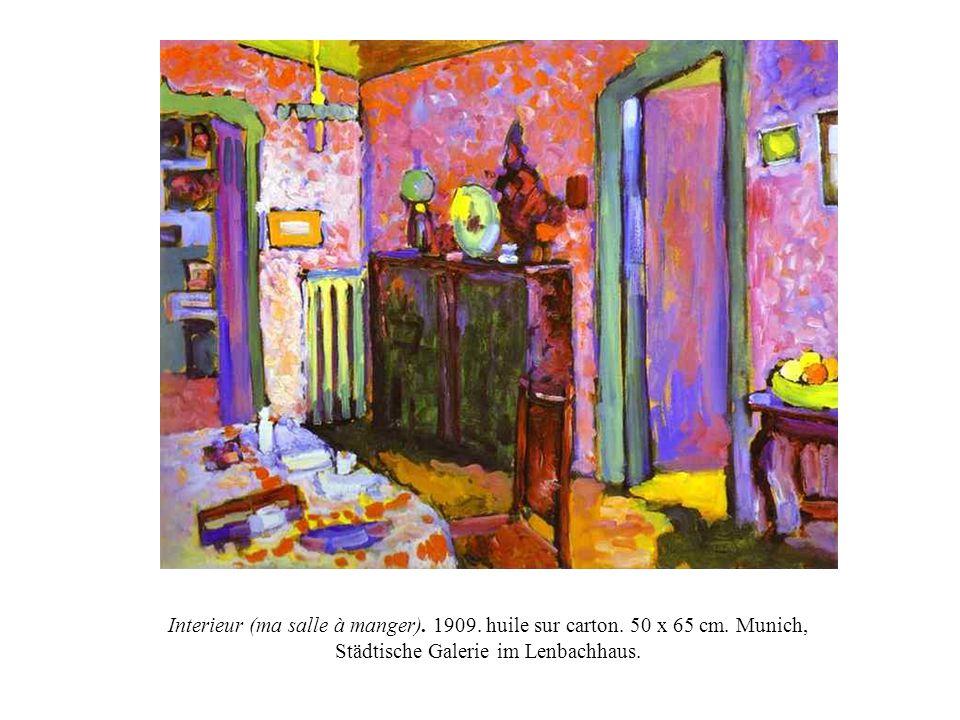 Interieur (ma salle à manger). 1909. huile sur carton. 50 x 65 cm. Munich, Städtische Galerie im Lenbachhaus.