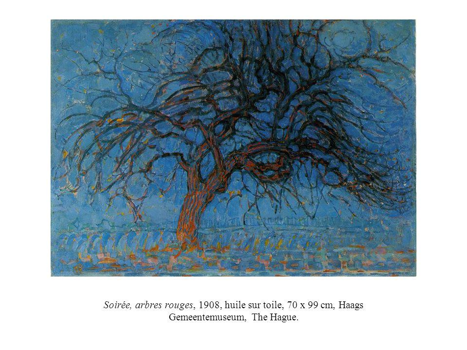 Soirée, arbres rouges, 1908, huile sur toile, 70 x 99 cm, Haags Gemeentemuseum, The Hague.