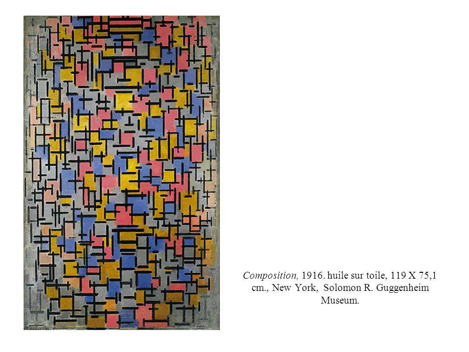 Composition, 1916. huile sur toile, 119 X 75,1 cm., New York, Solomon R. Guggenheim Museum.