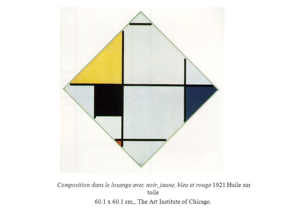 Composition dans le losange avec noir, jaune, bleu et rouge 1921 Huile sur toile 60.1 x 60.1 cm., The Art Institute of Chicago.