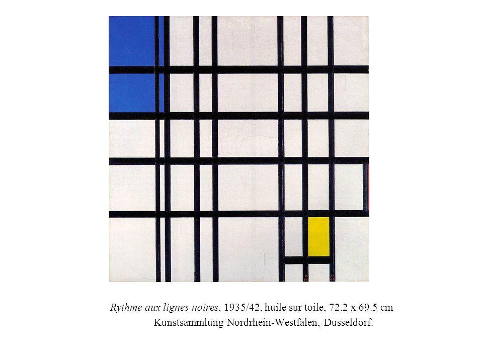 Rythme aux lignes noires, 1935/42, huile sur toile, 72.2 x 69.5 cm Kunstsammlung Nordrhein-Westfalen, Dusseldorf.