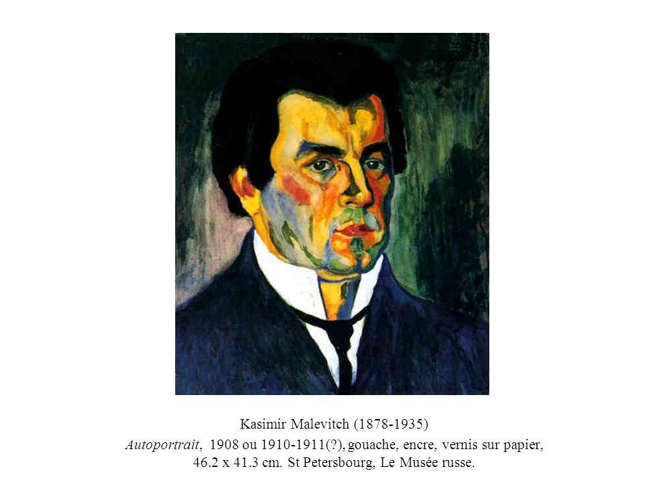 Kasimir Malevitch (1878-1935) Autoportrait, 1908 ou 1910-1911(?), gouache, encre, vernis sur papier, 46.2 x 41.3 cm. St Petersbourg, Le Musée russe.