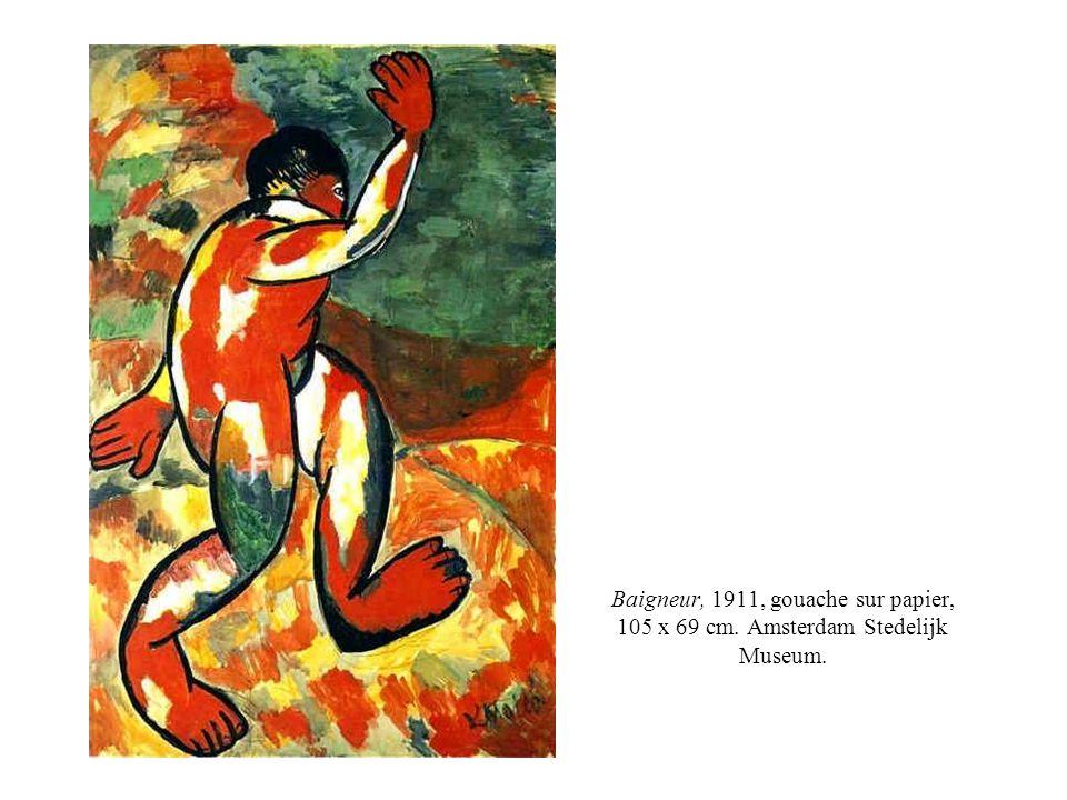 Baigneur, 1911, gouache sur papier, 105 x 69 cm. Amsterdam Stedelijk Museum.
