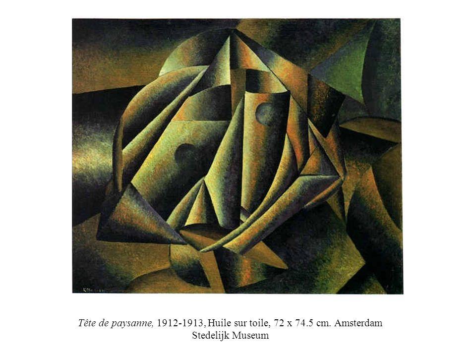 Tête de paysanne, 1912-1913, Huile sur toile, 72 x 74.5 cm. Amsterdam Stedelijk Museum