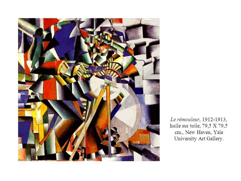 Le rémouleur, 1912-1913, huile sur toile, 79,5 X 79,5 cm., New Haven, Yale University Art Gallery.