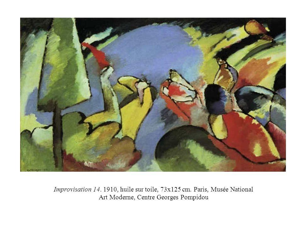 Improvisation 14. 1910, huile sur toile, 73x125 cm. Paris, Musée National Art Moderne, Centre Georges Pompidou