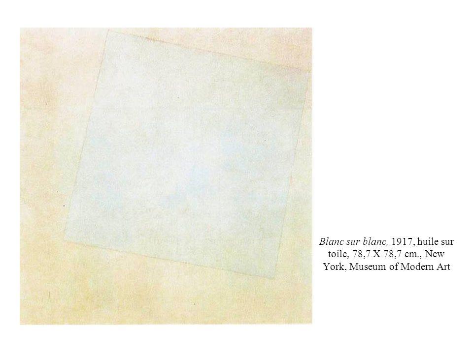 Blanc sur blanc, 1917, huile sur toile, 78,7 X 78,7 cm., New York, Museum of Modern Art