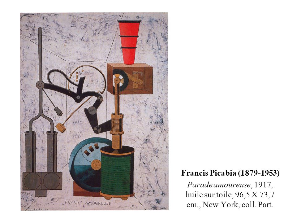 Francis Picabia (1879-1953) Parade amoureuse, 1917, huile sur toile, 96,5 X 73,7 cm., New York, coll. Part.