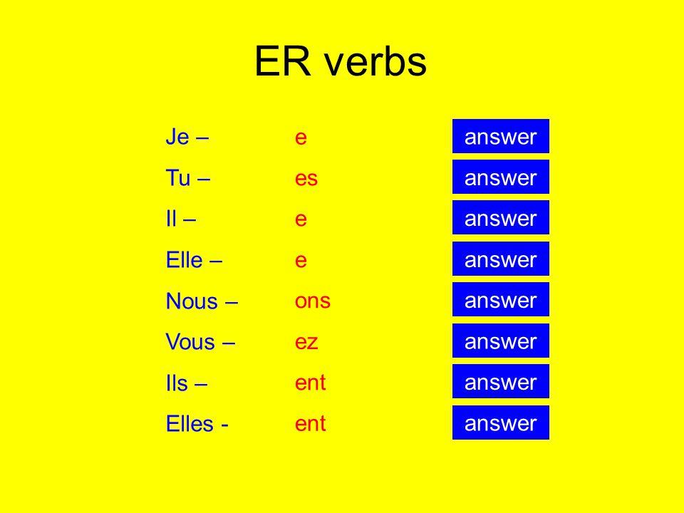 Click on the right answer I played Jai joué Il a joué Tu as joué