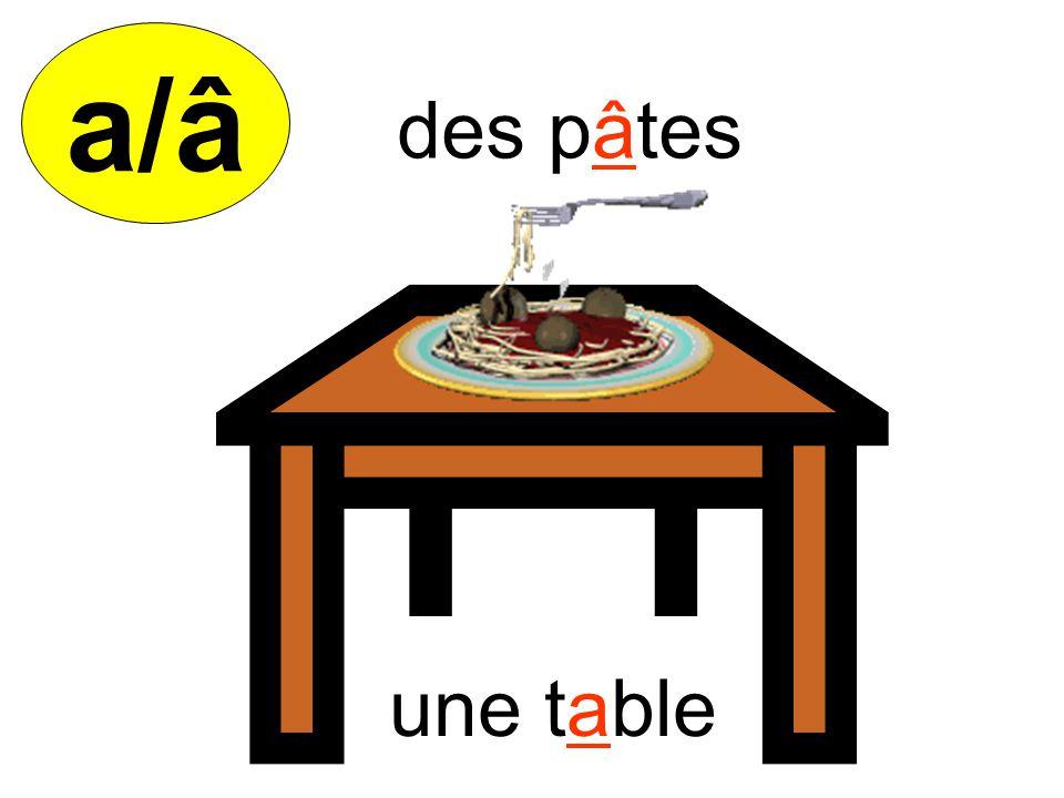 a/â une table des pâtes