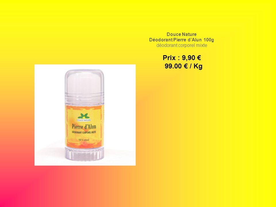 Douce Nature Déodorant Pierre dAlun 100g déodorant corporel mixte Prix : 9,90 99.00 / Kg