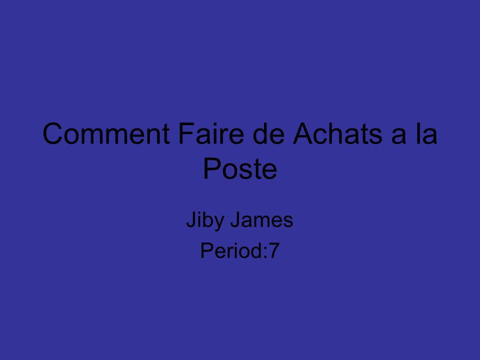 Comment Faire de Achats a la Poste Jiby James Period:7