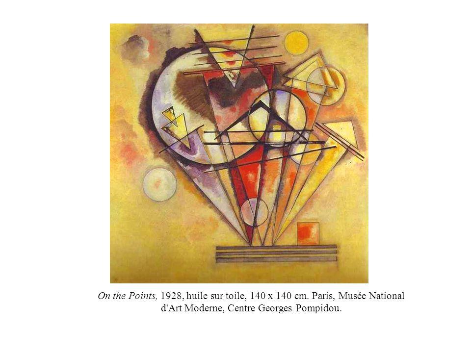 On the Points, 1928, huile sur toile, 140 x 140 cm.