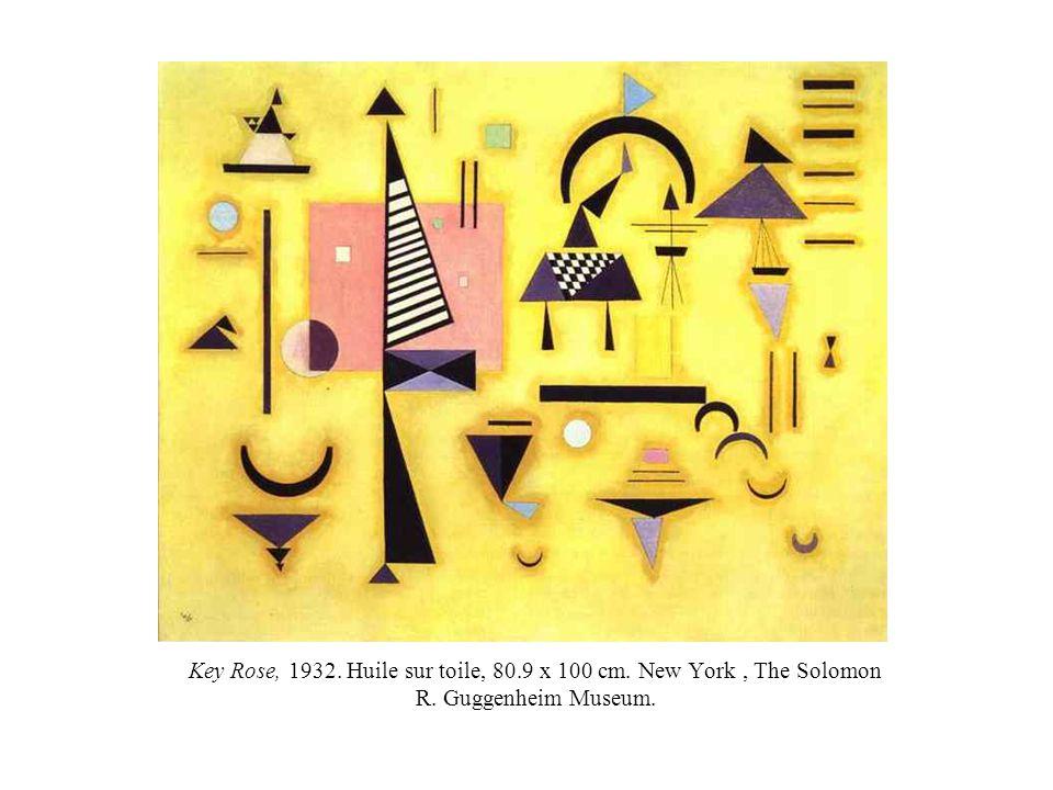 Key Rose, 1932. Huile sur toile, 80.9 x 100 cm. New York, The Solomon R. Guggenheim Museum.