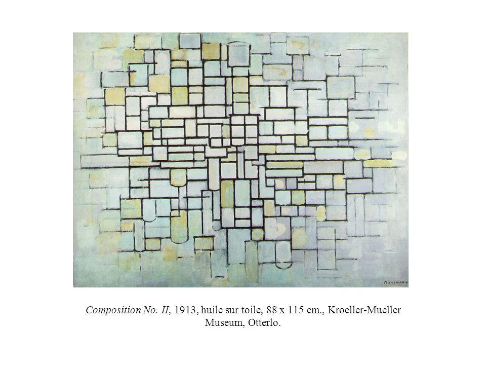 Composition No. II, 1913, huile sur toile, 88 x 115 cm., Kroeller-Mueller Museum, Otterlo.