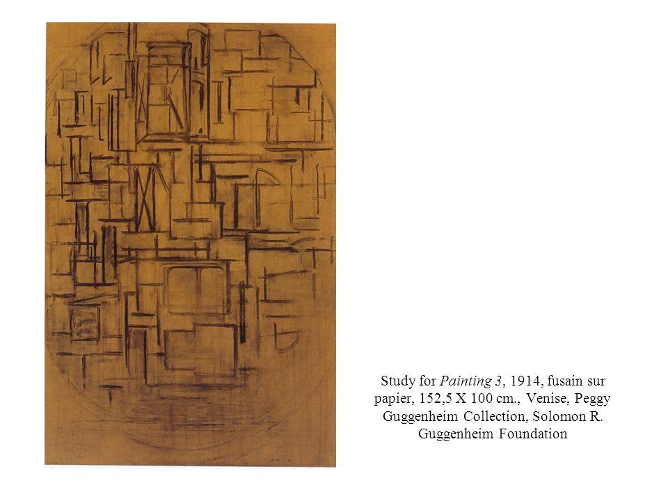 Study for Painting 3, 1914, fusain sur papier, 152,5 X 100 cm., Venise, Peggy Guggenheim Collection, Solomon R.